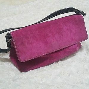 Kate Spade Velvet Hot Pink Mini Bag